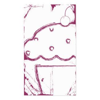 grunge cherry cupcake business card