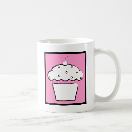 grunge cherry cupcake coffee mug