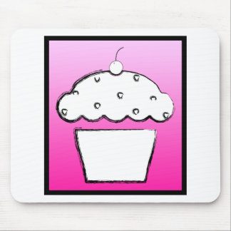 grunge cherry cupcake mouse pad