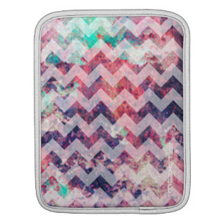 grunge chevron pattern personalized by name iPad sleeve