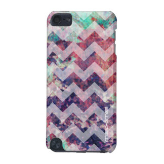 grunge chevron pattern personalized by name iPod touch (5th generation) cover