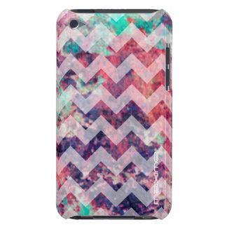 grunge chevron pattern personalized by name iPod touch case