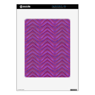 Grunge Chevron Style Decals For iPad