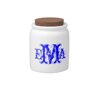 Grunge Chic Personalized Monogram Candy Jar