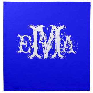 Grunge Chic Personalized Monogram Napkins