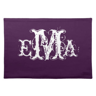 Grunge Chic Personalized Monogram Placemat