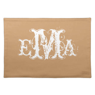 Grunge Chic Personalized Monogram Placemat Cloth Place Mat