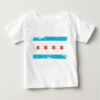 Grunge Chicago Flag Baby T-Shirt
