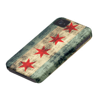 Grunge Chicago Flag iPhone 4 Case-Mate Cases