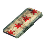 Grunge Chicago Flag Cover For iPhone 5/5S