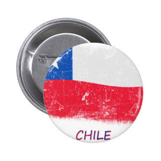 Grunge Chile Flag Buttons