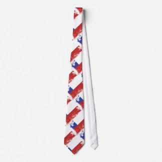 Grunge Chile Flag Tie