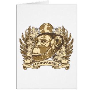 Grunge Chimpanzee Card