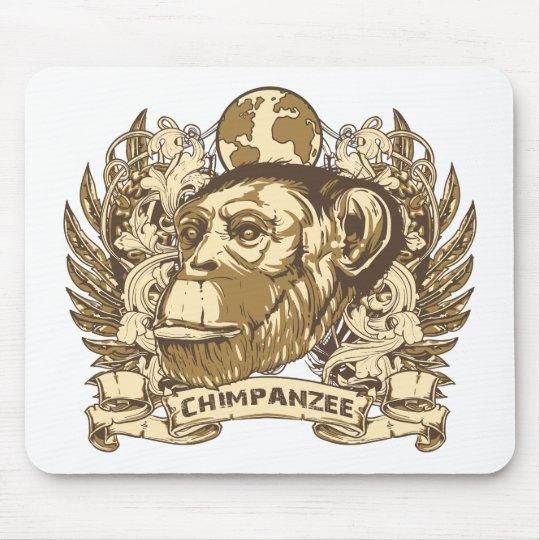 Grunge Chimpanzee Mouse Pad