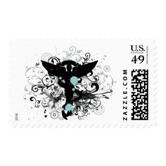 Grunge Chiropractic Emblem Postage