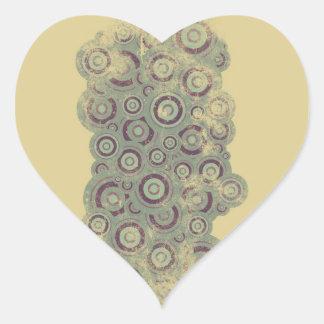Grunge circles heart sticker