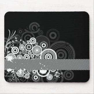 Grunge Circles mousepad