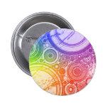 Grunge Circles: Rainbow Edition: 2 Inch Round Button