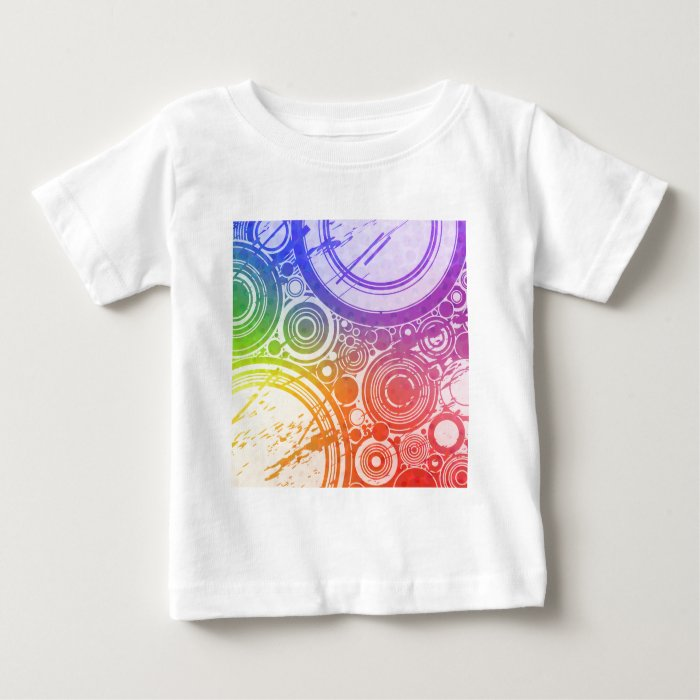 Grunge Circles: Rainbow Edition: Baby T-Shirt