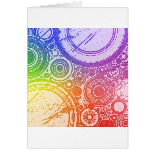 Grunge Circles: Rainbow Edition: Card