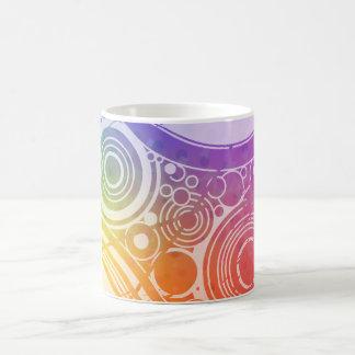 Grunge Circles: Rainbow Edition: Classic White Coffee Mug