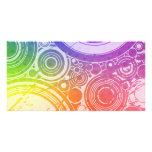 Grunge Circles: Rainbow Edition: Photo Card Template