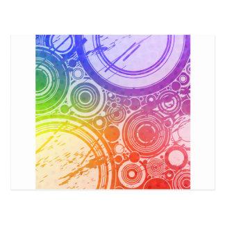 Grunge Circles: Rainbow Edition: Postcard