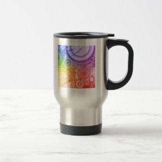 Grunge Circles: Rainbow Edition: Travel Mug