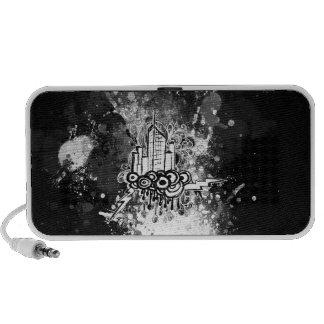 Grunge City (Black) Doodle Speaker