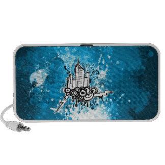Grunge City (Blue) Doodle Speaker