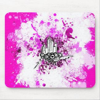 Grunge City (Pink) Mousepad