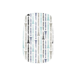Grunge Clarinets - Blue and Gray Minx ® Nail Wraps