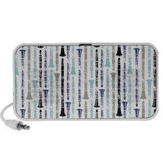 Grunge Clarinets - Blue and Gray iPhone Speaker