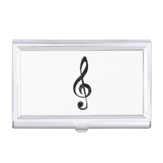 Grunge clef business card case