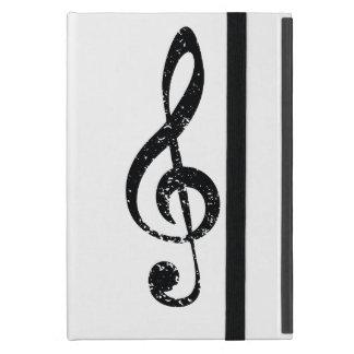 Grunge clef case for iPad mini