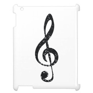 Grunge clef case for the iPad