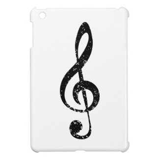 Grunge clef case for the iPad mini