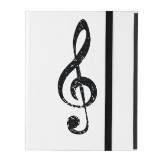 Grunge clef iPad case