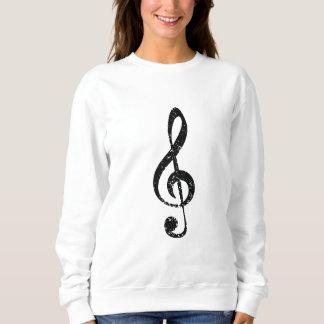 Grunge clef sweatshirt