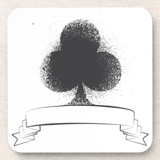 Grunge Club in Black Beverage Coaster