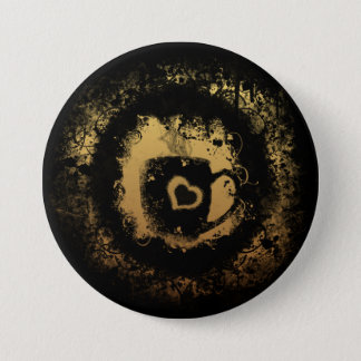 Grunge Coffee Pinback Button