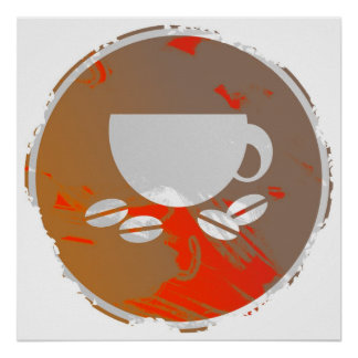 Grunge Coffee Sign Poster