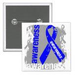 Grunge Colon Cancer Awareness Button