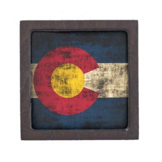 Grunge Colorado Flag Gift Box