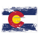 Grunge Colorado Flag Large Business Card