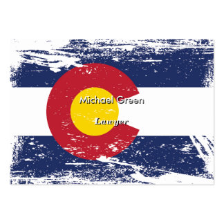 Grunge Colorado Flag Large Business Card