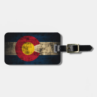 Grunge Colorado Flag Tags For Bags