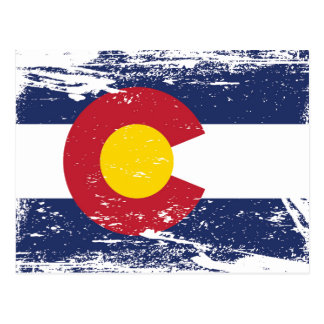 Grunge Colorado Flag Postcard