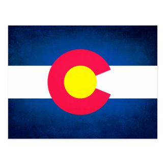 Grunge Colorado flag postcard