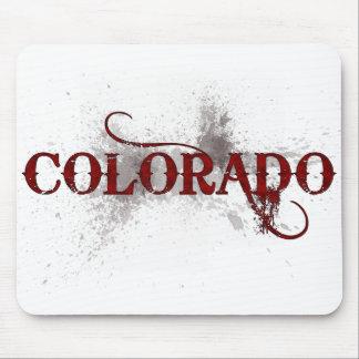 Grunge Colorado Mousepad de la sangría Tapetes De Raton